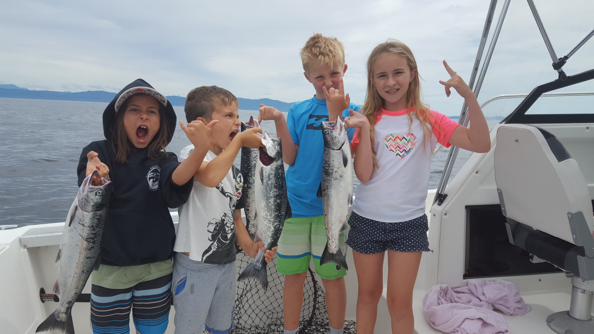 Coho kids @ Kayak Fishing